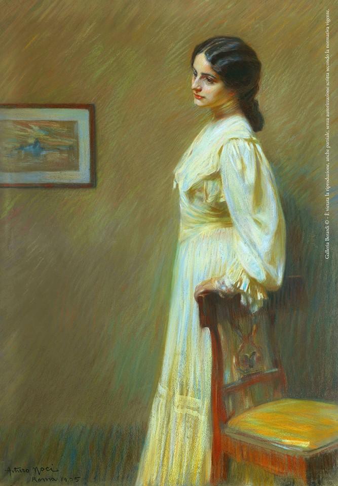 Arturo Noci, Ritratto in giallo, 1905