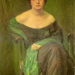 Ritratto di signora con lo scialle verde, 1923