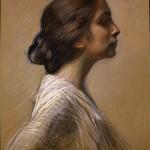 Fanciulla di profilo, 1916