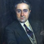 """""""Ritratto di Domenico Savino"""", 1933.   Il musicista Domenico Savino (Taranto, 13 gennaio 1882 – New York, 1973) introdusse Rodolfo Valentino nel mondo dello spettacolo statunitense."""